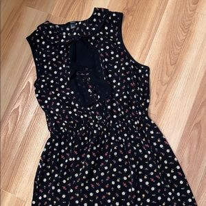 Forever 21 Collared Tie Floral Print Dress